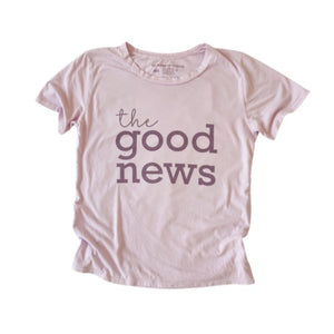the good news (lilac) • boyfriend tee