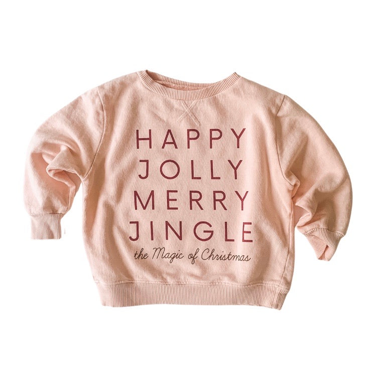 HAPPY JOLLY MERRY JINGLE • kids pullover