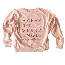 Load image into Gallery viewer, HAPPY JOLLY MERRY JINGLE • womens pullover