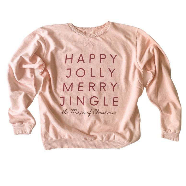 HAPPY JOLLY MERRY JINGLE • womens pullover