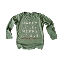 Load image into Gallery viewer, HAPPY JOLLY MERRY JINGLE • kids tee (long sleeve)