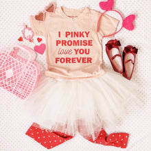 Load image into Gallery viewer, I PINKY PROMISE LOVE YOU FOREVER (peach tee) • kids tee SALE ITEM
