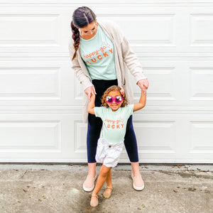 happy go-lucky (mint) • boyfriend tee