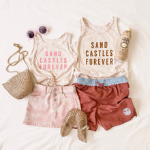 Load image into Gallery viewer, SAND CASTLES FOREVER • kids tank (pink)