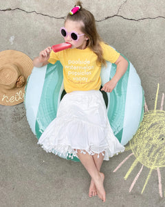 poolside watermelon popsicles vacay • kids tee