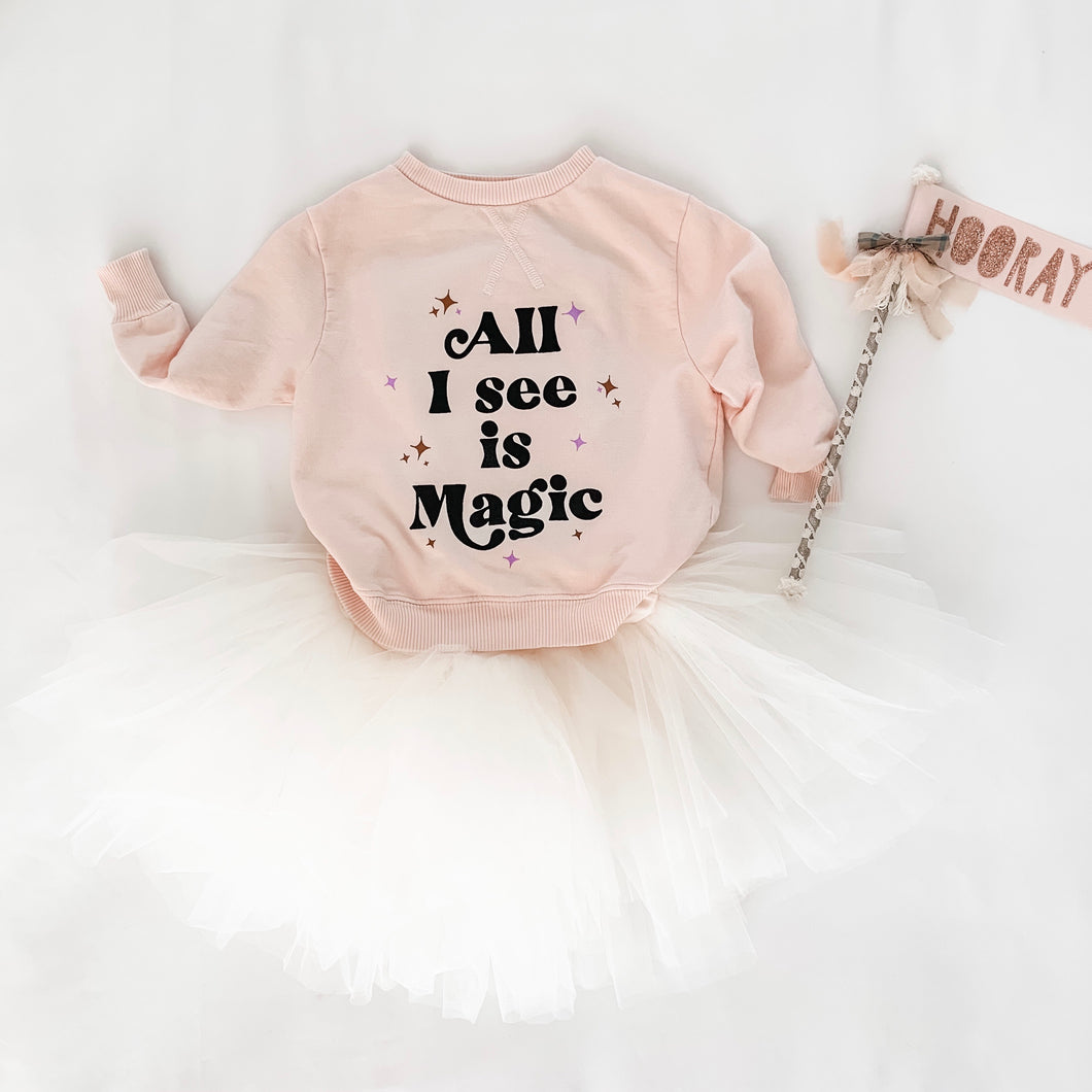 ALL I SEE IS MAGIC • kids pullover
