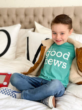 Load image into Gallery viewer, the good news • kids tee (teal)