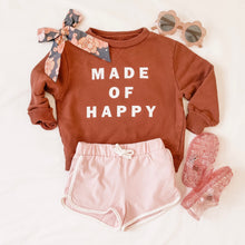 Load image into Gallery viewer, MADE OF HAPPY• kids pullover in gingerbread