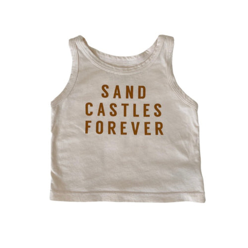 SAND CASTLES FOREVER • kids tank (brown sugar)