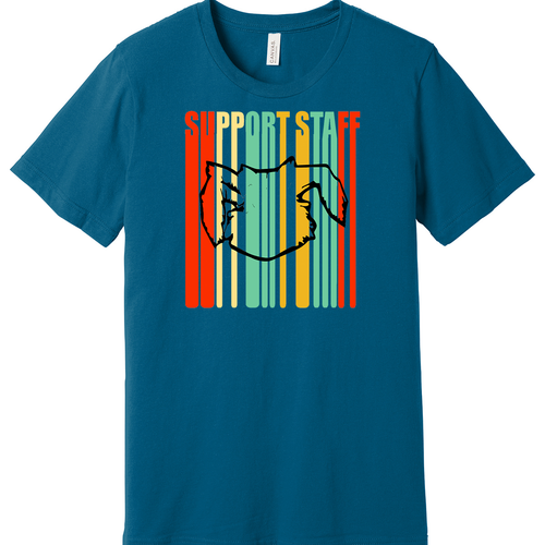 Teal Jackrabbits Support Staff Shirt