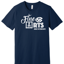 Load image into Gallery viewer, Navy Bowie Intermediate Fine Arts Shirt