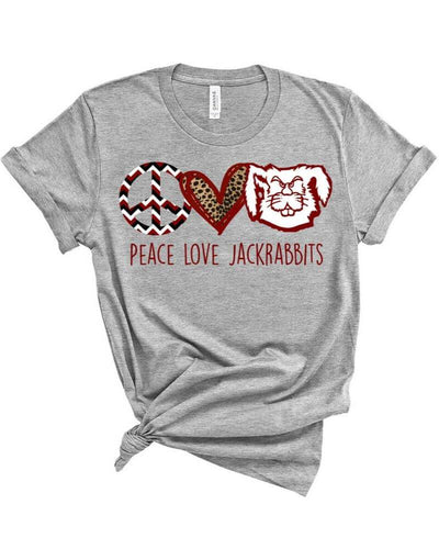 Peace, Love, Jackrabbits Spirit Shirt