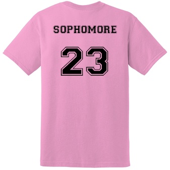 SOPHOMORE Student's Cheer Shirt (Front & Back)