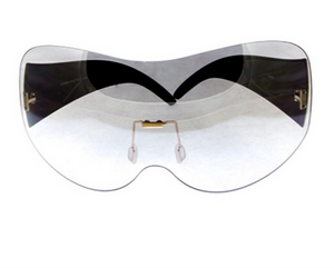 Plush oversized shield sunglasses