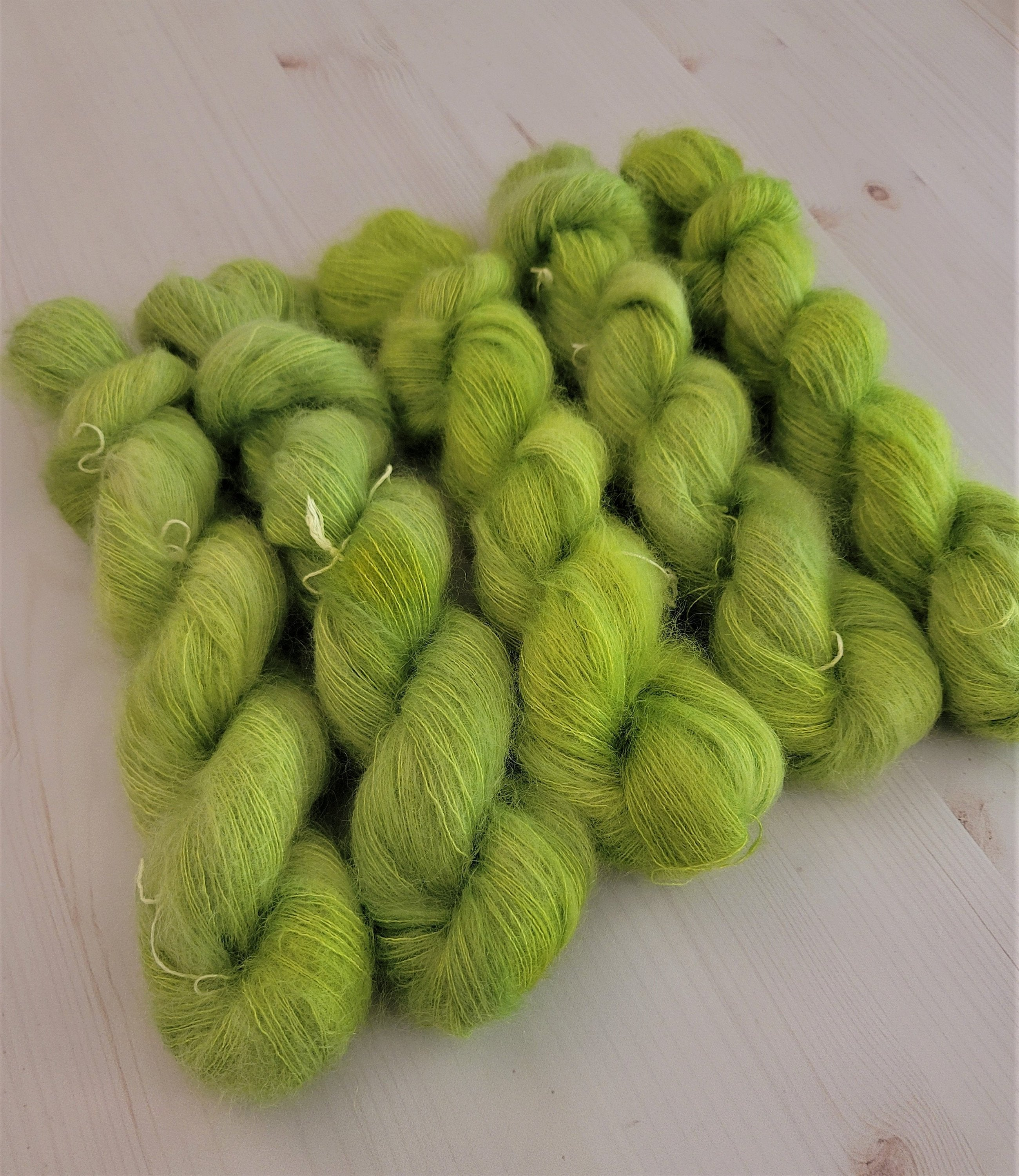 Pumpkins and Wools Mr. Grinch - Silk Mohair - Knitting - Crocheting 10.00