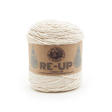 Lion Brand Re-Up Yarn - Ecru - Eco Friendly! - Pumpkins and Wools
