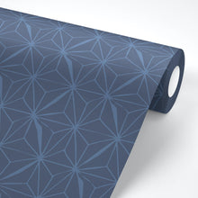 Load image into Gallery viewer, Navy Geometric Peel And Stick Wallpaper - The Wallberry