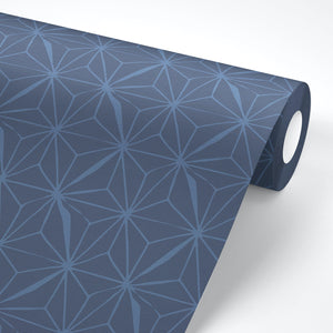 Navy Geometric Peel And Stick Wallpaper - The Wallberry
