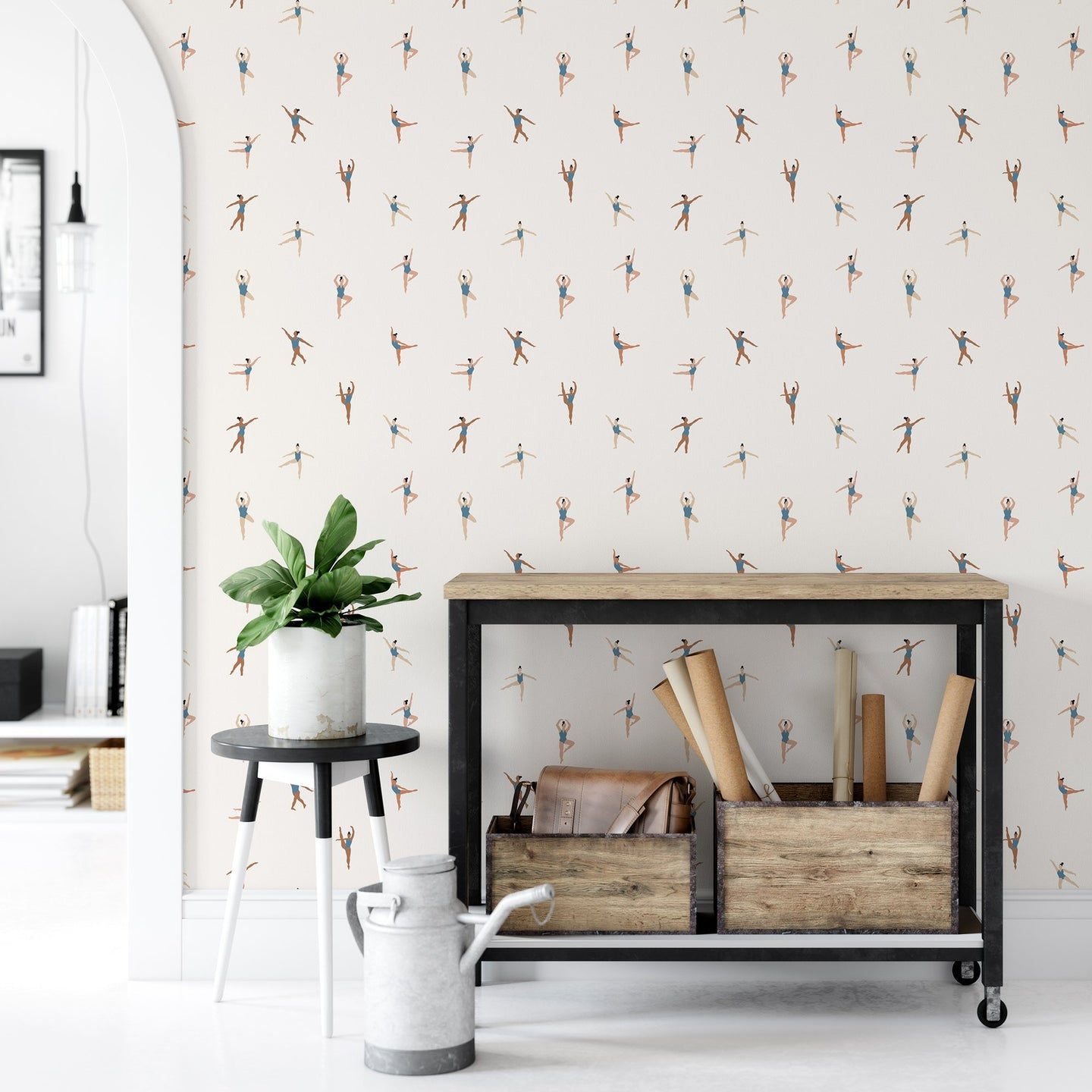 Light Ballerina Peel and Stick Wallpaper - The Wallberry