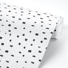 Load image into Gallery viewer, Black and White Dots Peel and Stick Wallpaper - The Wallberry