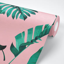 Load image into Gallery viewer, Jungle Bubblegum - Pink Tropical Wallpaper - The Wallberry