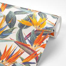 Load image into Gallery viewer, Strelitzia Wallpaper | White Bird of Paradise - The Wallberry