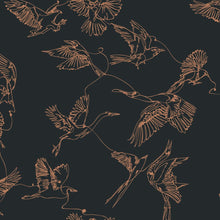Load image into Gallery viewer, Dark Birds Peel and Stick Wallpaper - The Wallberry