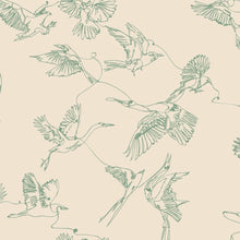 Load image into Gallery viewer, Nude Birds Peel and Stick Wallpaper - The Wallberry