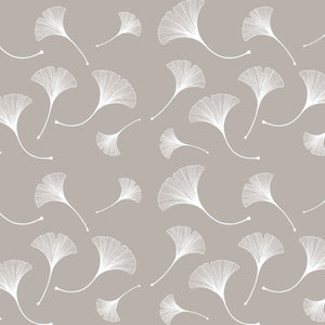 Taupe Ginkgo Leaf Peel and Stick Wallpaper - The Wallberry