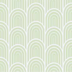 Light Green Art Deco Wallpaper - The Wallberry