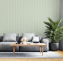 Load image into Gallery viewer, Light Green Art Deco Wallpaper - The Wallberry
