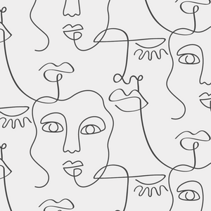 Face Lines Peel and Stick Wallpaper - The Wallberry