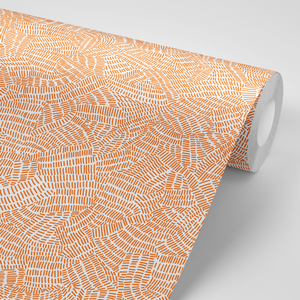 Custom Order: Burnt Orange Wallpaper | Peel and Stick - The Wallberry