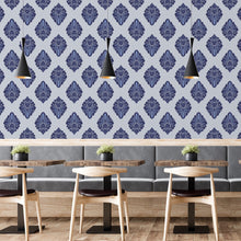Load image into Gallery viewer, Blue Damask Self Adhesive Wallpaper - The Wallberry