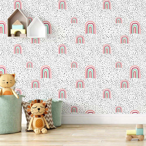 Rainbow Peel and Stick Wallpaper - The Wallberry