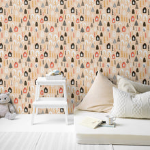 Load image into Gallery viewer, Fall Woodland Peel and Stick Wallpaper - The Wallberry