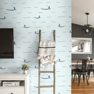 Blue Sea Peel and Stick Wallpaper - The Wallberry