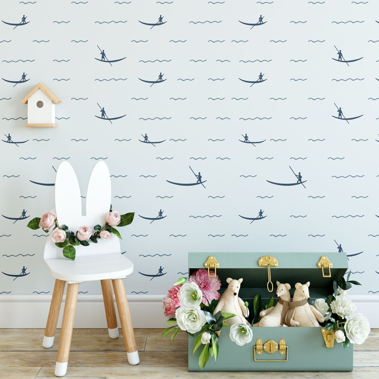Blue Sea Peel And Stick Wallpaper The Wallberry By The Wallberry