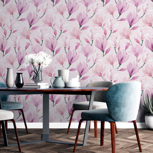 Magnolia Wallpaper Peel and Stick - The Wallberry