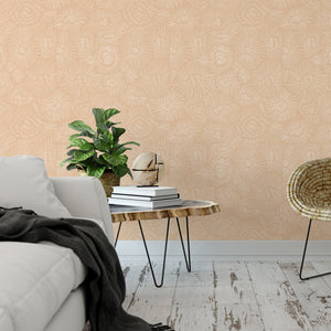 Nude Abstract Peel And Stick Wallpaper - The Wallberry