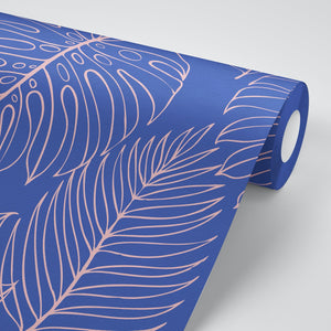 Tropical Leaf Peel and Stick Wallpaper - The Wallberry