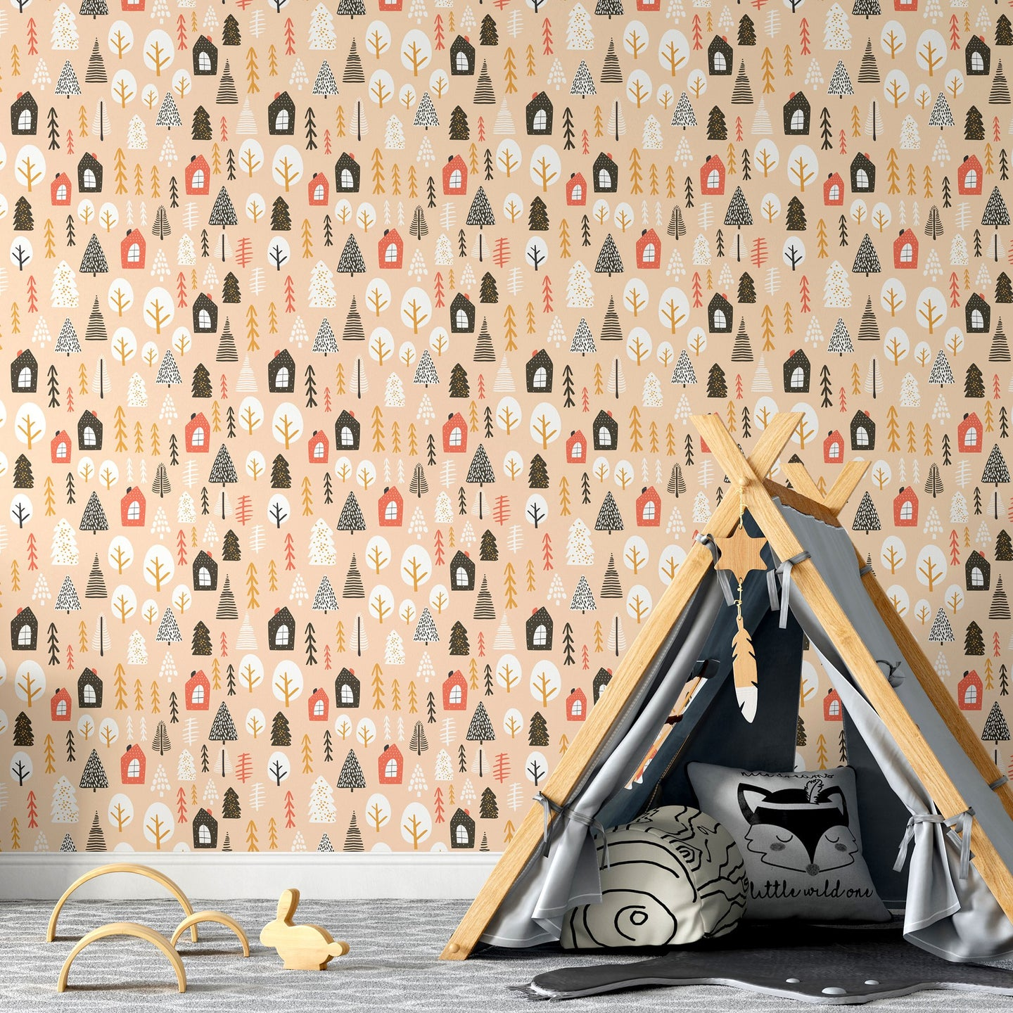 Fall Woodland Peel and Stick Wallpaper - The Wallberry