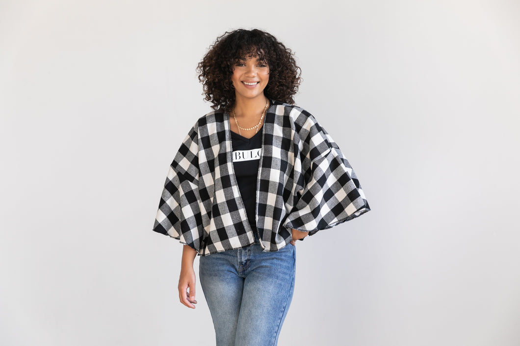Shrug sweater - Buffalo Check