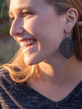 Load image into Gallery viewer, Black Lace Earrings