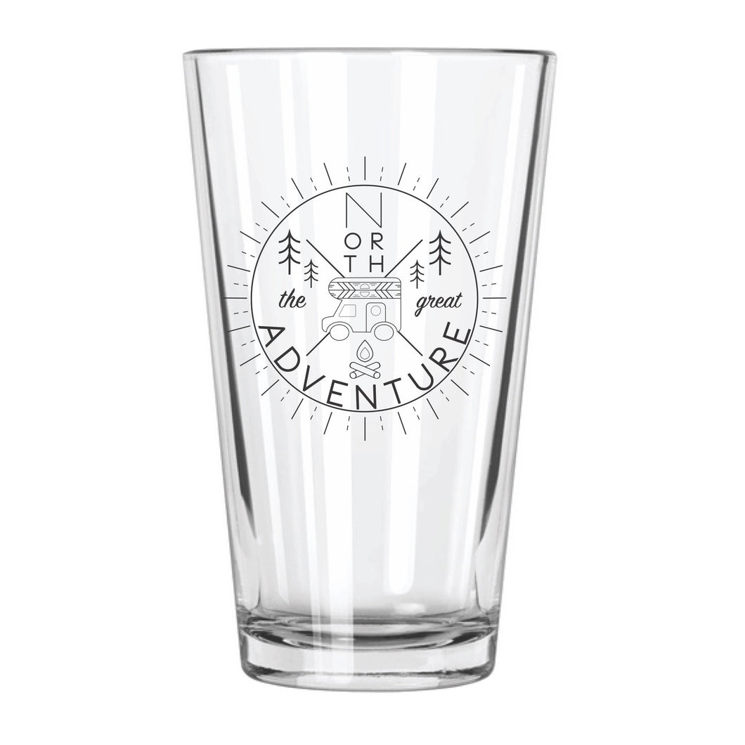 Great North Adventure Pint Glass