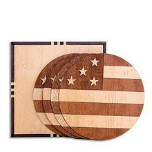 Load image into Gallery viewer, Wood Coaster Set by Woodchuck USA