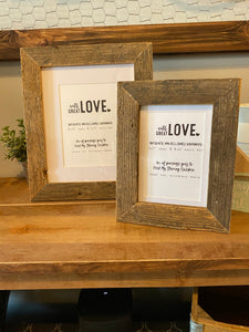 Reclaimed Barnwood Picture Frames **Multiple Sizes Available**