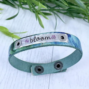 Create Hope Cuffs Leather Skinny Bracelet
