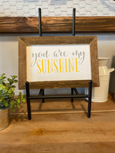 "Load image into Gallery viewer, Farmhouse Sign Framed in Reclaimed Barnwood (12x8"") **Multiple Styles Available**"