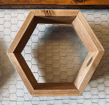 Load image into Gallery viewer, Hexagon Honeycomb Floating Shelf